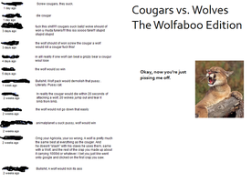 Cougars vs Wolves by ToxicSerpent