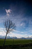 Distant mountains by Willowhisperer