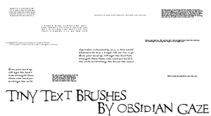 Tiny Text Brushes by seline-bennet
