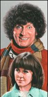 4th doctor + Sarah by caldwellart