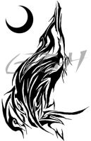 Tribal 8 - The Howling Wolf by electricitygonehuman