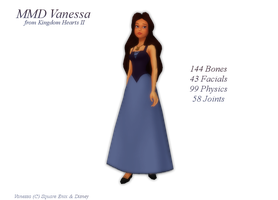 MMD Vanessa DL by 0-0-Alice-0-0