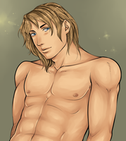 Manga Bishie Lineart (Sold and Colored) by TheComicStream