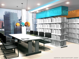 Office Design: Library by aeriim