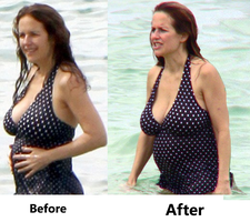 Kelly Preston Before and After by ToadmanFA999