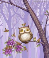 Owl's Berries by LiaSelina