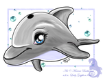Chibi Dolphin by Gryphonia