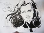 Kitty pryde Con doodle- SDCC 2014 by aethibert