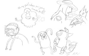 Adventure time doodles by MissWiggleButt
