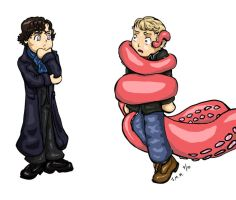 Sherlock and Tentacles by Gnine
