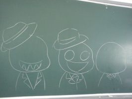 Slenders on blackboard by Jamiecheater