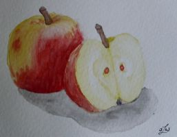 Watercolor- Apples by Xhisteriah