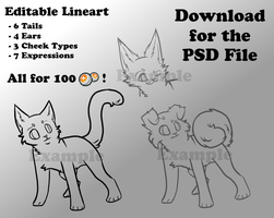Customizable Lineart  - 100 points by Allizia