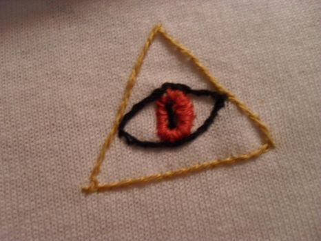 Embroidered All Seeing Eye by GuillotineChan