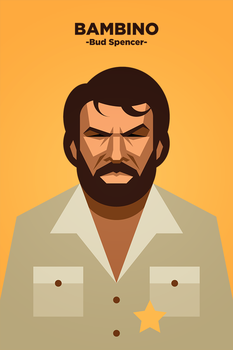 Bud Spencer as Bambino portrait by IlPizza