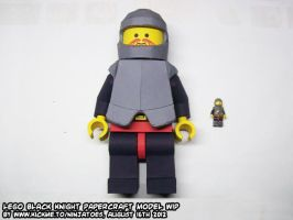 papercraft LEGO Black Knight WIP13 by ninjatoespapercraft