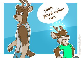 antlers too impressive by ThesePantsDontFit