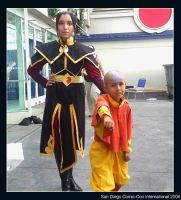 Aang and Azula by sockaichan