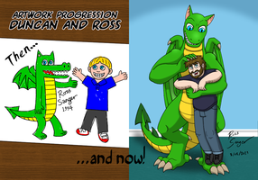 Art Progression- Duncan and Me by Ross-Sanger