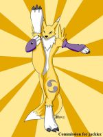 COM : Renamon streching by whiteguardian
