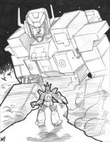 Fortress Maximus Sketch by SeanRM