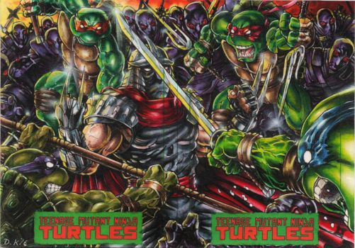 TMNT vs Shredder and The Foot Clan by DKuang