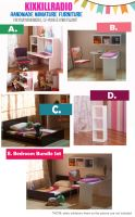 Miniature Bedroom Furniture for SALE by kixkillradio