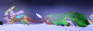 Journey of the christmas tree by Silcy