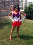 Sailor Mars Protecting the City by Angelstarr-Sakura