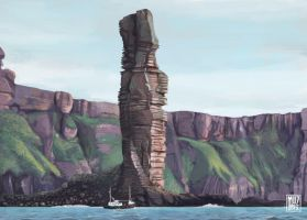 Scottish landscapes - Old Man Of Hoy, Orkney by muzski