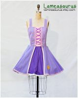 Rapunzel retro style dress tangled by Lameasaurus-etsy
