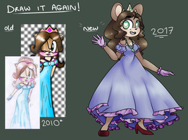 Draw It Again: Princess Daisy (AU) by LoulabeIIe