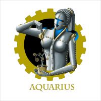 Steampunk Zodiac - Aquarius by flamarahalvorsen