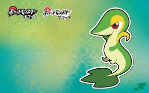 Tsutarja - Snivy Wallpaper by Marki-san-Design