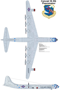 Convair B-36 Peacemaker by bagera3005