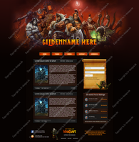 World of Warcraft Template #2 Webspell by KR-Designs2015