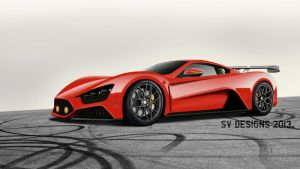 Zenvo ST1 GT Race Bonus Orange by chikadoctor
