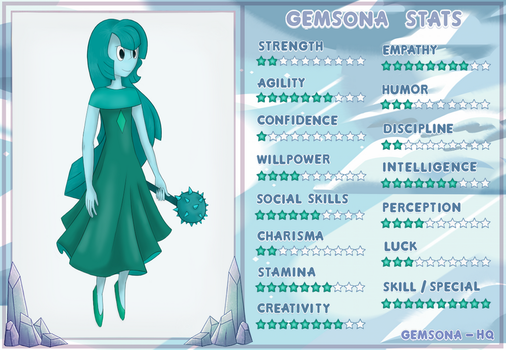 Stats - Dioptase by ViviTheFolle
