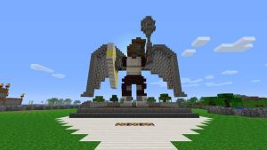 Minecraft Angel Statue by Tommy0327