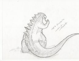 Godzilla 1954 remake (request) by kamakoa09