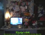 My desk by Kitedge
