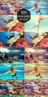 (Sale) 100 Underwater Lightroom Presets by symufa