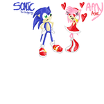 quick pic of sonic and amy by Bre112