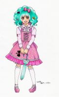 Sweet Lolita with Crazy Hair by shoujo-neko
