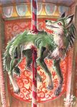 ACEO Look I'm a carousel! by Sysirauta