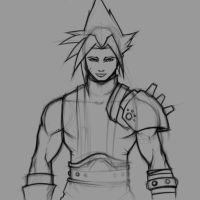 Doodle - Cloud Strife by Paterack