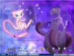 Mew and Mewtwo Wallpaper by mew-mewtwo