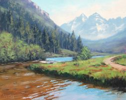 Maroon Bells by artsaus
