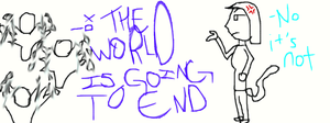 The world is ending (NOT!) by LucarMoonshadow12345