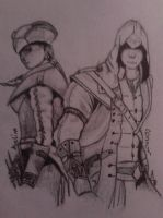 aveline and connor by patita297